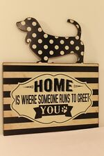 Tin Sign Doggy Home 29cm Metal Pets Home Decor