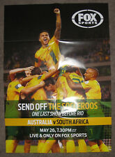 AUSTRALIA V SOUTH AFRICA -  SEND OFF THE SOCCEROOS BEFORE RIO POSTER