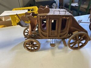 Antique Vintage Wooden Toy Stage Coach