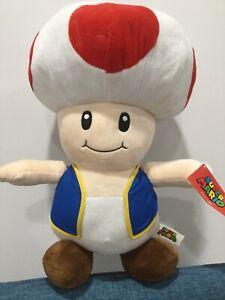 "Super Mario Toad Large 20"" Plush Stuffed Licensed Nintendo 2017 Good Stuff BIG"