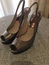 Leather Wet look, Shiny Slim Heels for Women