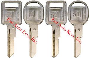 "4 NEW GM Logo OEM ""A"" IGNITION +""B"" DOORS/TRUNK Key Blanks Uncut 320588 + 320589"