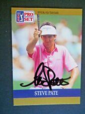 Steve Pate - 1990 Proset Autographed PGA Golf card # 8 - Tour card