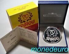 (250) FRANCIA 2008 1 1/2 EUROS PLATA PROOF SPIROU 1,5 €