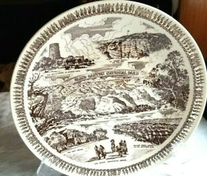 Vernon Kilns USA  Plate  Grand Canyon Katchina Hopi Cliff Dwellings  1950's Ex!
