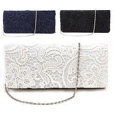 Mode Damentasche Abendtasche Clutch Tasche Spitze Brauttasche Handtasche Neu