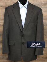 Ralph Lauren Blue Label Men's Gray Wool Two Button Blazer Sport Coat Jacket 41S
