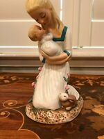 Vintage Mother and Child Goebel Western Germany 8 1/2 Inches tall 1959