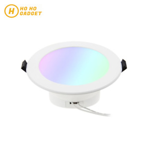 10W WiFi Smart RGBW LED Downlight Remote Control Light Google Home Alexa | 90mm