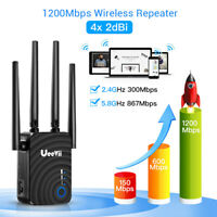 1200Mbps Wireless WiFi Repeater Signal Range Booster Dual Band Amplifier Outdoor
