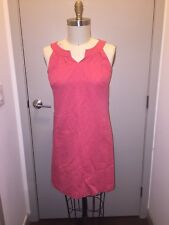 Handmade Patterned Bubblegum Pink Sleeveless A-Line Dress With Pockets M
