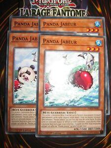YU-GI-OH! PLAYSET (LOT DE 4) PANDA JABEUR PHRA-FR082 EDITION 1 FRANCAIS