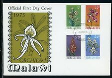 Malawi Scott #255-258 FIRST DAY COVER Orchids Flowers FLORA $$