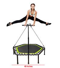 "48"" Trampoline Silent Cardio Rebounder Jumping Training Adult Body Exerciser NEW"