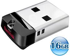 SANDISK CRUZER FIT MINI 16GB 16G USB Flash Pen Key Car Drive Memory Stick CZ33 T