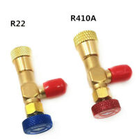2xSafety Valve Refrigeration Charging Adapter R22/R410A For Air Condition Repair