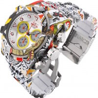 Invicta Mens 52mm Bolt Zeus Quartz Chrono Graffiti Hydroplated SS Bracelet Watch
