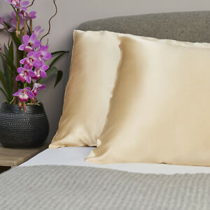 100% Pure and Organic Mulberry Silk Pillow Case - 19 Momme Champagne Caramel