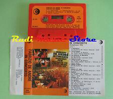 MC FABRIZIO DE ANDRE In concerto arrangiamenti PFM 1979 italy no cd lp dvd vhs *