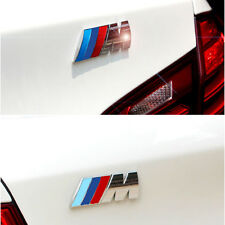 3D M Logo Plating Metal Power BMW Badge Fender Emblem Self Adhesive Car Sticker
