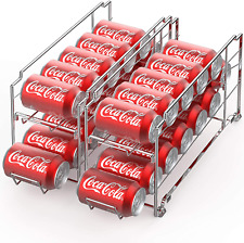 Canned Food Dispenser Rack Can Organizer Holder Soda Cans Tracker Storage 2 Pack