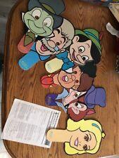 Lot 6 Pinocchio Street Face Puppet Masks Judy Instructo 1986, Walt Disney 3503