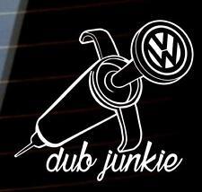 DUB junkie Car camper Window JDM Bumper Vinyl Decal Sticker JDM VW