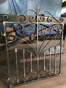 French country Iron Scroll Garden Gate