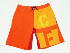Reebok CrossFit CF Bonded Orange Athletic Training Shorts Mens 36