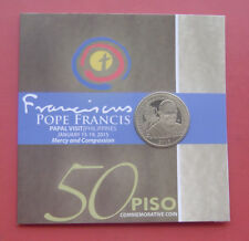 Philippines 2015 Papal Visit Philippines 50 Piso Nickel-brass Coin in Card
