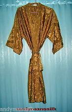 Thai Silk Kimono / Robe / Dressing Gown / Gold
