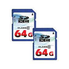 Lot of 2 OEM 64GB 64G Class 10 (=128GB) SD SDXC Flash Memory Card HD Video