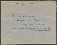 BRITISH INDIA TO USA Old Cover VF