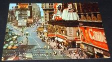 Vintage Postcard Times Square New York City Billboards