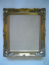 NEW Ornate gold wooden12 x 10 picture  frame WITH GLASS