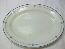 Vintage Pope Gosser Oval Meat Platter-  Blue Design