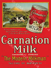 Carnation Evaporated Milk Metal Sign, Retro Kitchen Decor, Pacific NW Landscape