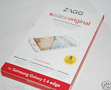 Zagg Invisible SHIELD Samsung Galaxy S6 Edge full  Screen Protector *NEW*