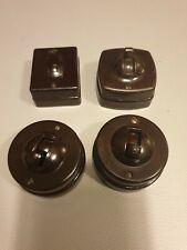 Vintage Ceramic And Bakelite Light Switches X 4.