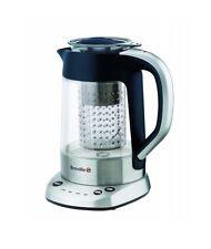 BREVILLE PURE TEA STAINLESS STEEL &  GLASS 1L TEA MAKER KETTLE