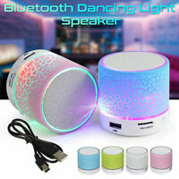 LED Bluetooth Wireless Speaker Portable/&Rechargeable For Samsung iPhone iPad HTC