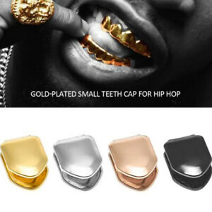 New 14k Gold Plated Small Single Tooth Plain Canine Cap  trend Hip Hop Teeth