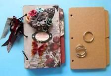 """Bare Chipboard 8 1/2"""" x 5 1/2"""" Tabbed Mini Album Scrapbook - 6 Pgs."""