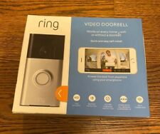 Ring Video Doorbell with HD Video, Motion Activated Alerts -Satin Nickel - NEW