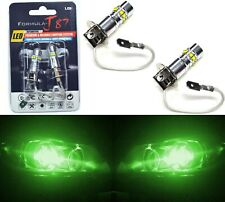 LED 50W H3 Green Two Bulbs Fog Light JDM Color Replacement Show Replace OE