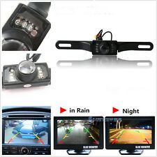 Infrared Night View Automobile License Plate Frame Reversing Camera Parking Kit