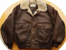 Best Flight B3 Bomber Leather Jacket Sheepskin Shearling Wool L 42 Vtg NOS USA
