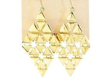 LAUREN Ralph Lauren Gold-Tone Triangle Chandelier Earrings $58