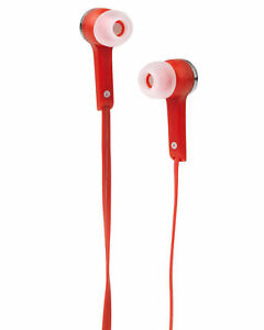 Intempo Flat Cable Earphones- Red