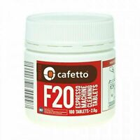 NEW CAFETTO F20 ESPRESSO MACHINE CLEANING TABLETS 100 Coffee Clean Auto Jar